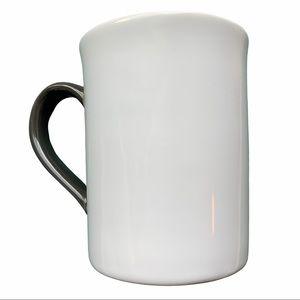 Threshold White Porcelain Mug w/ Dark Grey Handle